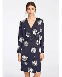 20f87513 Cupcakes And Cashmere Rosea Printed Textured Chiffon Dress With Ruffle  Detail - Save 9% - Lyst