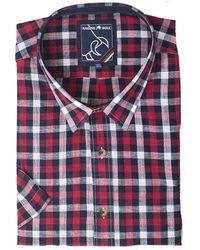 Raging Bull - Linen Look Check Shirt - Lyst
