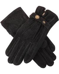 Dents - Laura Strap Detail Suede Gloves - Lyst