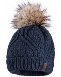81013ed0 PUMA Core Knit Bobble Hat Grey/white in Gray - Lyst