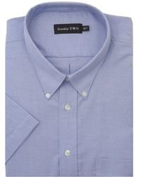 Double Two - Short Sleeved Oxford Shirt - Lyst