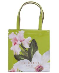b8d6eb81f374 Lyst - Ted Baker Small Orsja Chatsworth Bloom Nylon Tote -