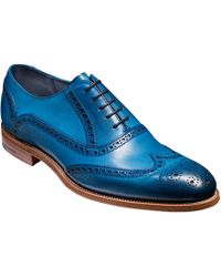 Barker Valiant Hand-painted Leather Brogue - Blue