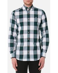Vivienne Westwood - Men's Butcher Stripe 2 Button Gingham Krall Shirt - Lyst