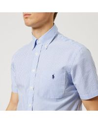 Polo Ralph Lauren - Men's Short Sleeve Seersucker Shirt - Lyst