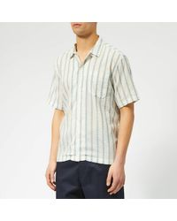 Universal Works - Striped Cotton Shirt - Lyst