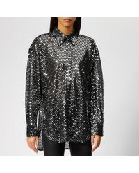 MSGM - Women's Sequin Shirt - Lyst