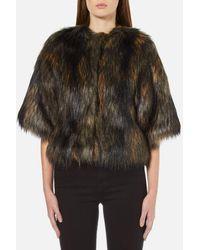 PS by Paul Smith - Women's Faux Fur Shrug Coat - Lyst