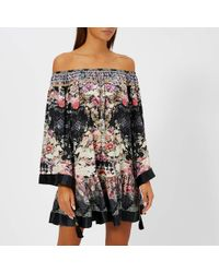 Camilla - Off Shoulder Frill Hem Dress - Lyst