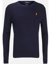 Polo Ralph Lauren - Men's Crew Neck Pima Cotton Knitted Jumper - Lyst