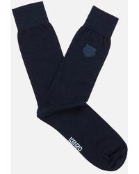 KENZO - Men's Tiger Embroidered Socks - Lyst
