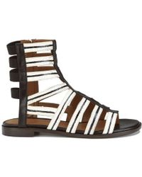 Thakoon Addition - Women's Taylor 2 Leather Stripe Gladiator Sandals - Lyst
