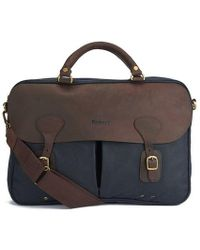 Barbour - Men's Wax Leather Briefcase - Lyst