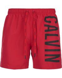 CALVIN KLEIN 205W39NYC - Men's Ck One Logo Intense Power Swim Shorts - Lyst