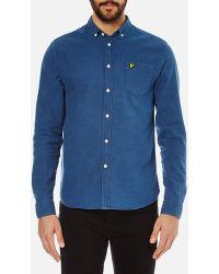 Lyle & Scott Vintage Men's Long Sleeve Indigo Oxford Shirt