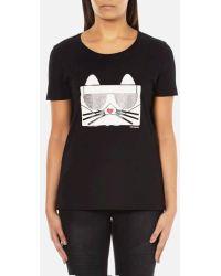 Karl Lagerfeld - Women's Kocktail Choupette Tshirt - Lyst