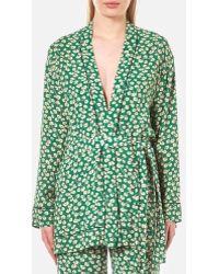Ganni - Women's Dalton Crepe Kimono - Lyst