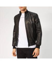 Emporio Armani - Leather Jacket - Lyst