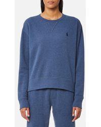 Ralph Lauren - Women's Crew Neck Sweatshirt - Lyst