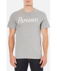 Maison Kitsuné - Maison Kitsuné Men's Parisian Tshirt - Lyst