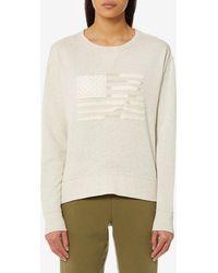 175661f3c857 Lyst - Polo Ralph Lauren Women s Hooded Sweatshirt in Gray