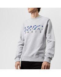 KENZO - Men's Paris Embroidered Sweatshirt - Lyst