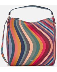 PS by Paul Smith - Women's Zipped Swirl Hobo Bag - Lyst