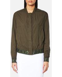 DKNY - Long Sleeve Bomber Jacket With Elastic Logo Trims - Lyst