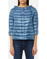 Herno - Women's Cape Woven Jacket With 3/4 Sleeves - Lyst