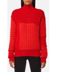McQ - Women's Cable Mix Crop Jumper - Lyst