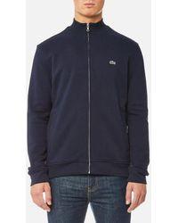 Lacoste - Men's Zipped Sweatshirt - Lyst