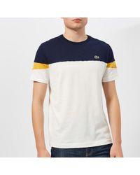 Lacoste - Men's Colour Block Contrast Sleeve Tshirt - Lyst