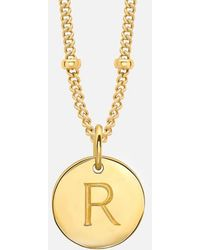 Missoma - Women's 'r' Initial Necklace - Lyst