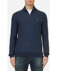 Polo Ralph Lauren | Men's Texturized Quarter Zip Knitted Jumper | Lyst