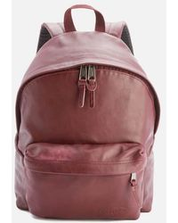 Eastpak - Padded Pak'r Leather Backpack - Lyst