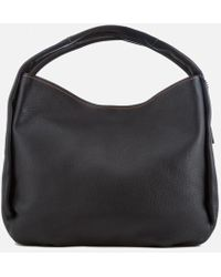 Coach Bandit Hobo 39 In Natural Pebble Leather in Black | Lyst