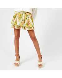 Zimmermann - Women's Golden Surfer Skirt - Lyst