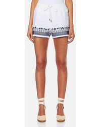 MICHAEL Michael Kors | Women's Embroidered Shorts | Lyst