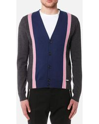 DSquared²   Men's Striped Knitted Cardigan   Lyst