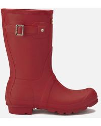 HUNTER - Women's Original Short Wellies - Lyst