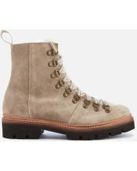 Grenson Nanette Suede Hiking Style Boots