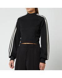 Y-3 3 Stripe Crew Sweatshirt - Black