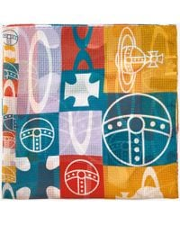 Vivienne Westwood - Foulard Checker Square Scarf - Lyst