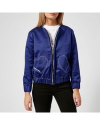 Maison Kitsuné - Women's Heart Teddy Jacket - Lyst