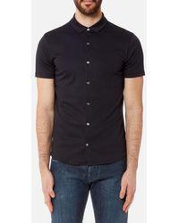 Emporio Armani - Men's Cotton Short Sleeve Shirt - Lyst