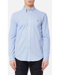 Polo Ralph Lauren - Men's Long Sleeve Oxford Pique Shirt - Lyst