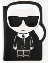Karl Lagerfeld - Women's K/ikonik Passport Holder - Lyst