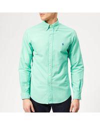 aff1915f Polo Ralph Lauren Cotton Patchwork Shirt for Men - Lyst