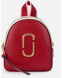 Marc Jacobs - Mini Pack Shot Backpack In Red Leather With Polyurethane Coating - Lyst