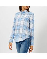 Polo Ralph Lauren - Women's Logo Checked Linen Shirt - Lyst